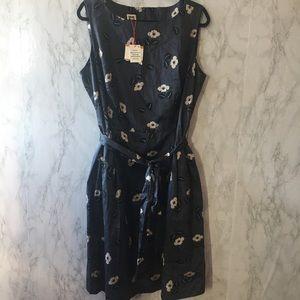 Anne Klein Grey Floral Dress